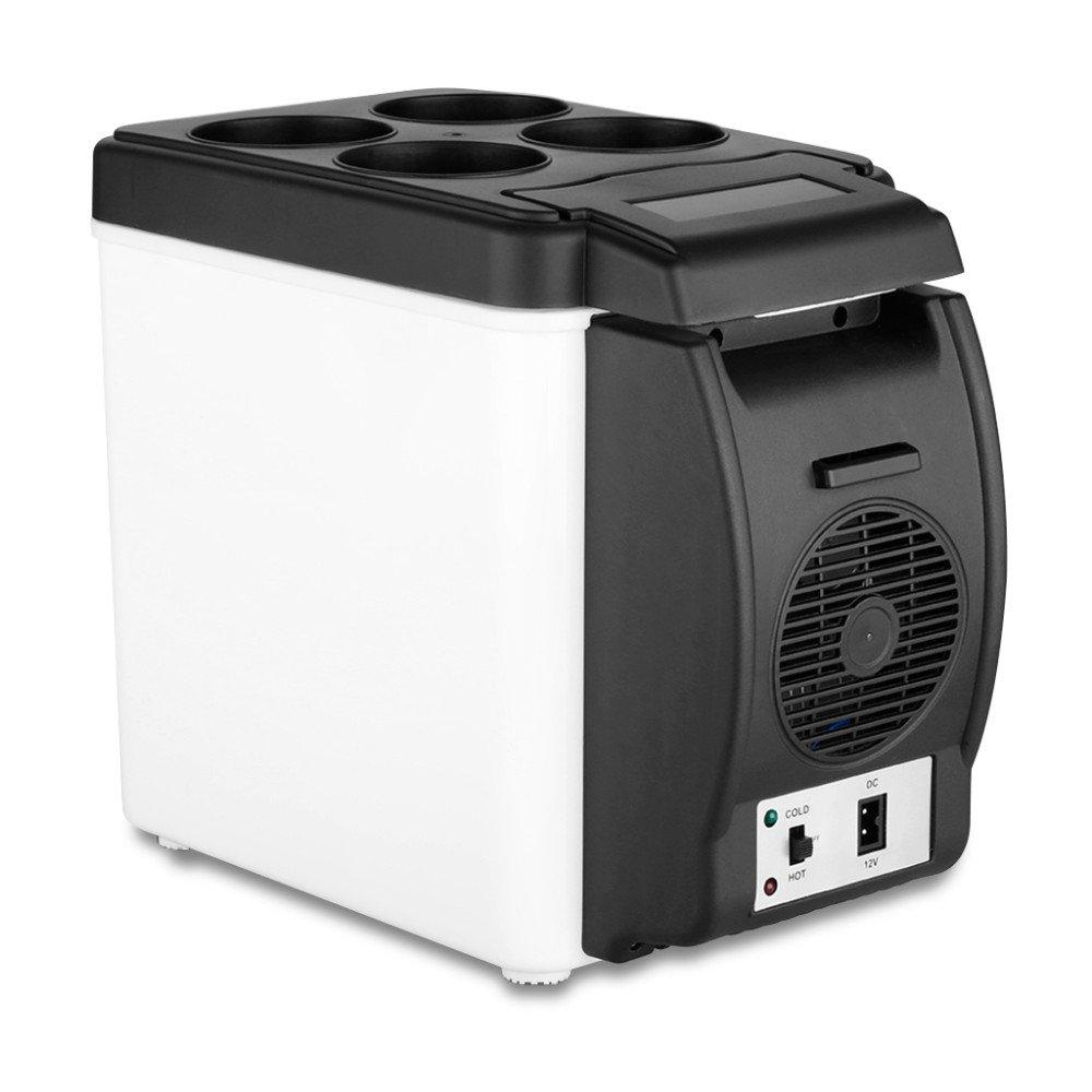 BININBOX Electric Car Refrigerator 12V Cooler Warmer 6L Capacity Travel Portable Freezer Beverage Drink Cans Food