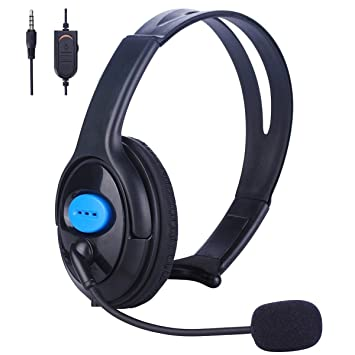 Hinmay PS4 Wired Unilateral Headset, Mono 3 5mm Online Live