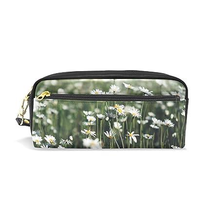 Estuche elegante con estampado de flores blancas y pétalos ...