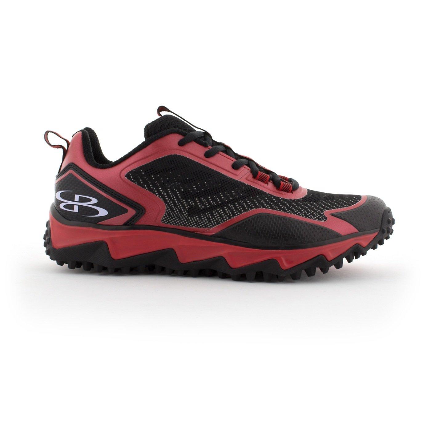 BoombahメンズBerzerk Turf Shoes – 13色オプション – 複数のサイズ B0769XK2M8 10.5|ブラック/レッド ブラック/レッド 10.5