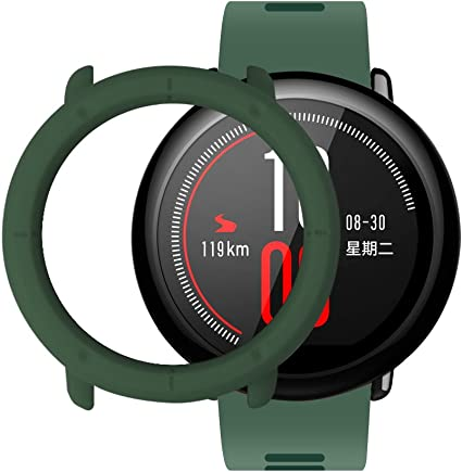Amazfit Pace Case SIKAI Shockproof Anti-Scratch Protective Bumper Cover for Huami Amazfit Pace SmartWatch (Army Green)