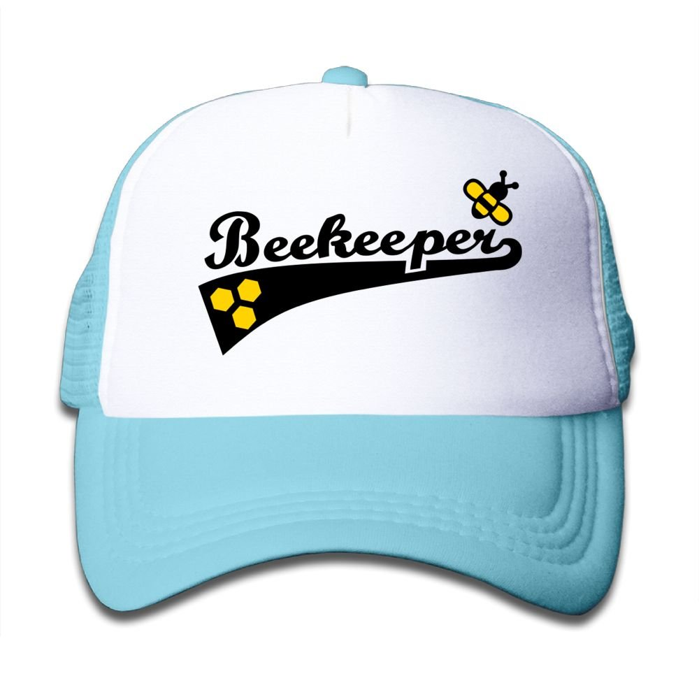 Oiir Ooiip Bee Keeper Boys-Girls Mesh Baseball Caps Kids Trucker Hats