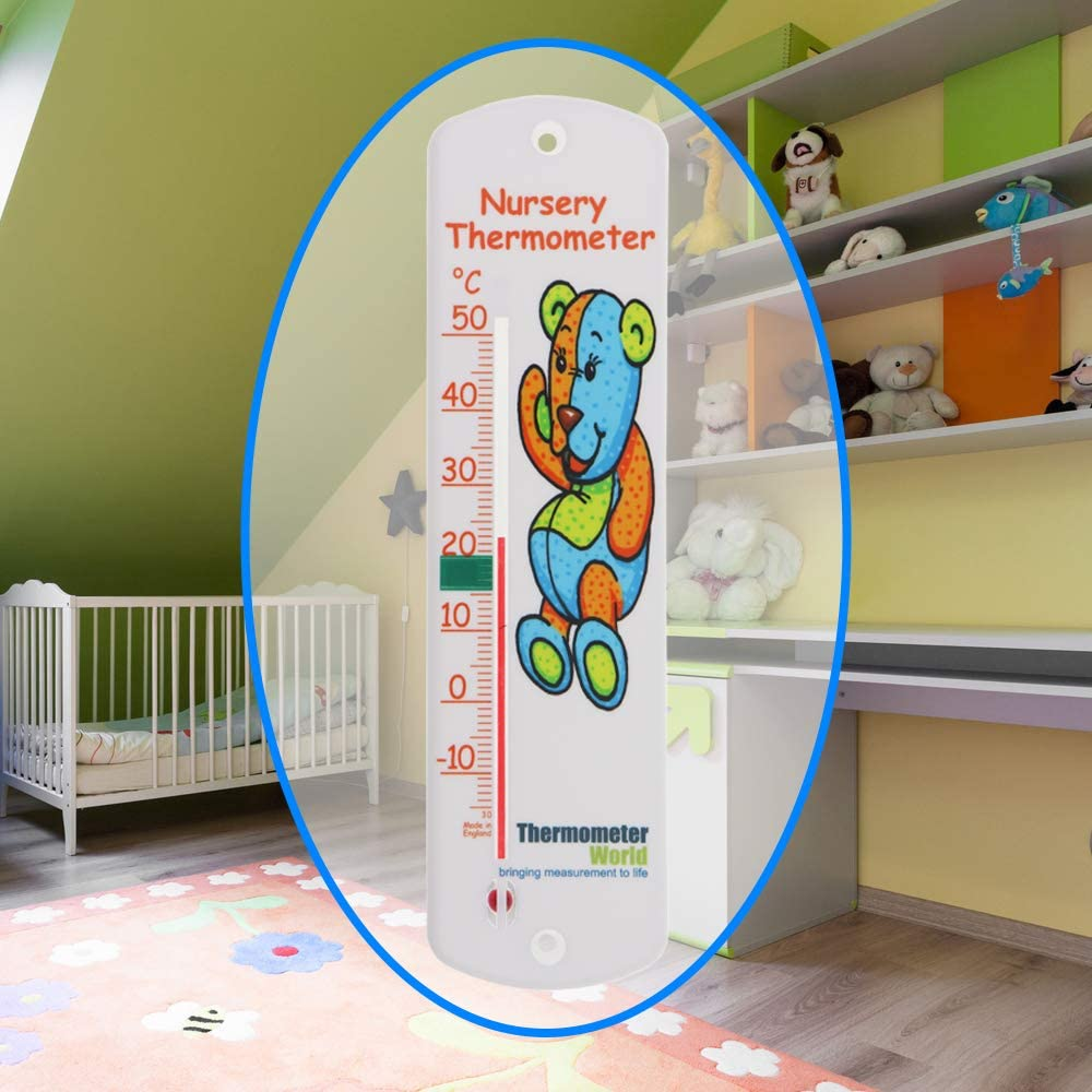 Baby Kids Childs Bedroom Room Temperature Gauge Easy to Hang Room Thermometer Nursery