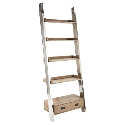 Amazon.com: Woodrow reciclado Elm Acero Inoxidable Escalera ...