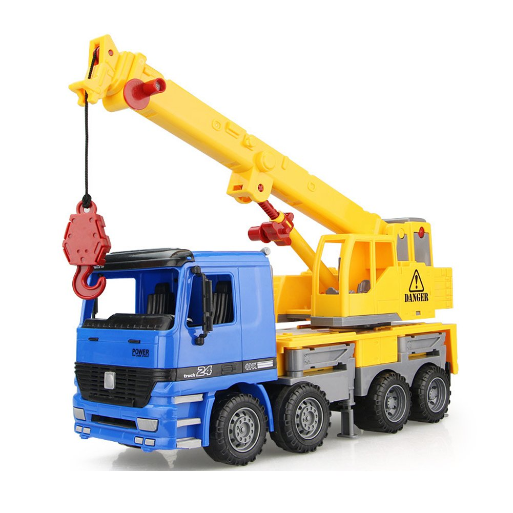 Inertia Crane Toy / Children's Engineering Truck Crane Lifting Rotating Retractable