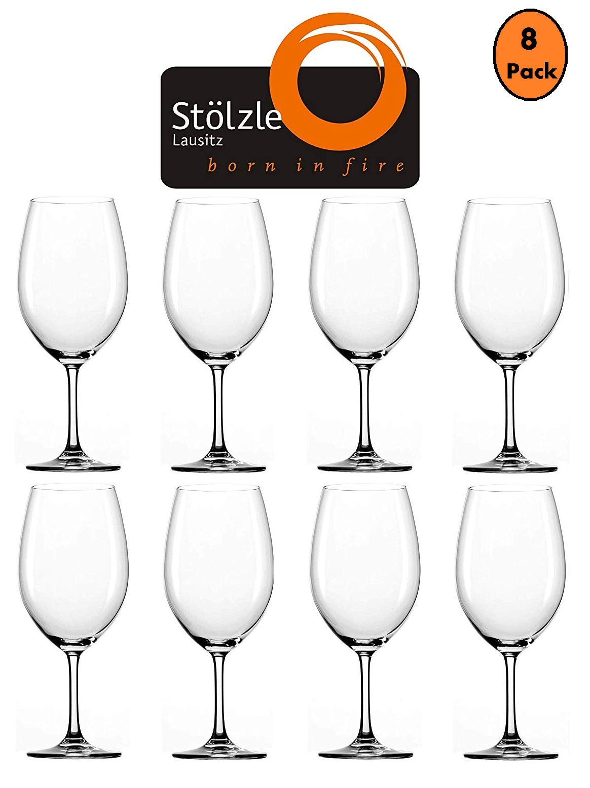 Stolzle Classic 22-Ounce Red Wine Glasses for Cabernet, Merlot (Set of 8)