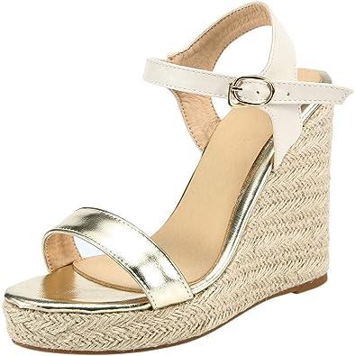 Sandales Compensées Femme Blanche, Womens Sandals Talon
