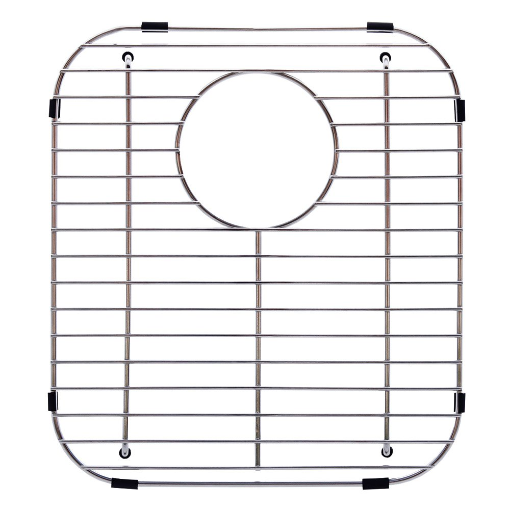 Franke Evolution Universal 13.1 x 11.6-inch Double Bowl Sink Protection Grid in Stainless Steel with Rear Drain, FGD75 by FRANKE
