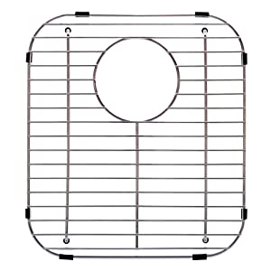 """Franke Evolution Universal 13.1 x 11.6-inch Double Bowl Sink Protection Grid in Stainless Steel with Rear Drain, FGD75, 13.13"""" x 11.63"""""""
