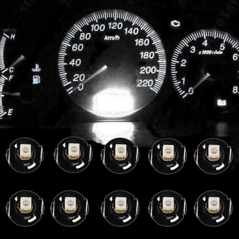 Mintice 10 X bianca Auto T4/T4.2 Lampadina LED Neo Wedge luce cruscotto strumento gruppo indicatore luce