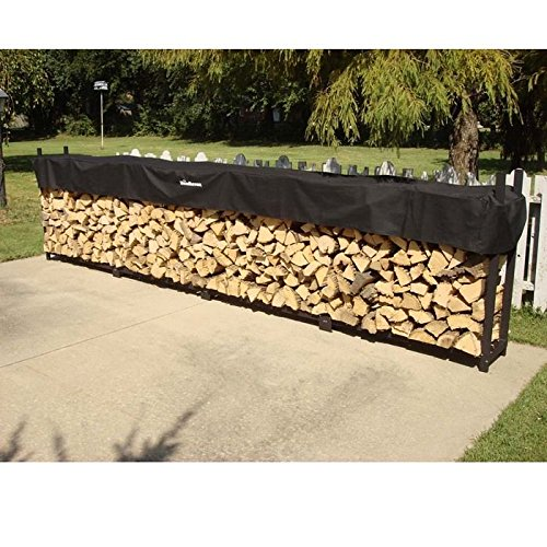 Face Cord Firewood - Woodhaven 1 Cord Firewood Rack and Cover