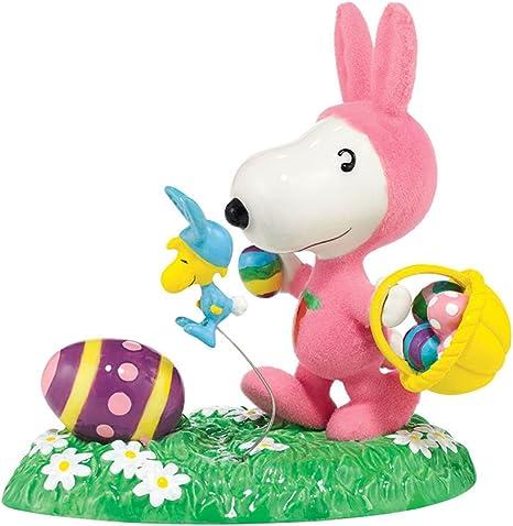 Petit Noir Dromida Blimps Peanuts Cest Le Beagle de P/âques Snoopy et Woodstock en Tenue Bunny Figurine