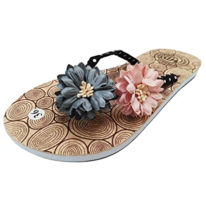 17eabbbdb021e Amazon.com  Hopwin Women Flat Beach Slippers