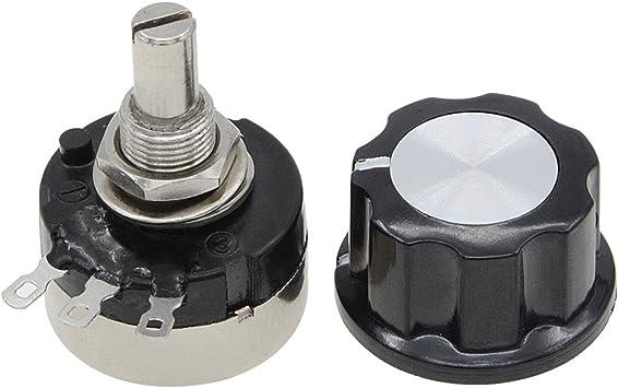 RV24YN 20S B103 10K Ohm Rotary Taper Carbon Potentiometer w Control Knob