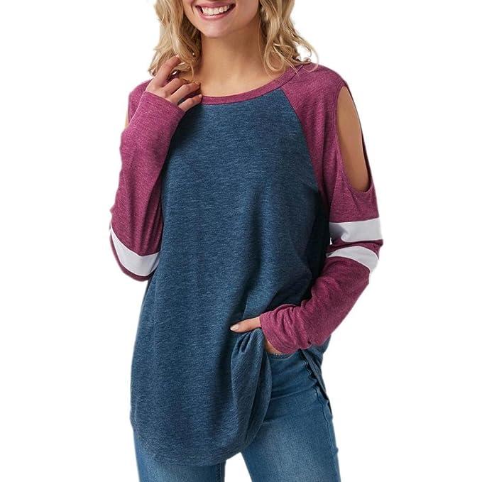 Shirt Larga de Mujer, BaZhaHei, Camisas Las Mujeres de Las señoras de la Raya