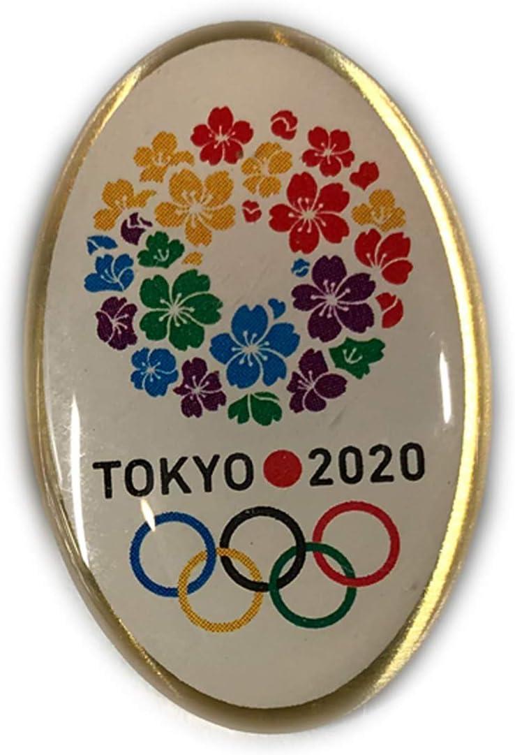 東京 2020 オリンピック 招致 ピンバッジ 桜のリース デザイン