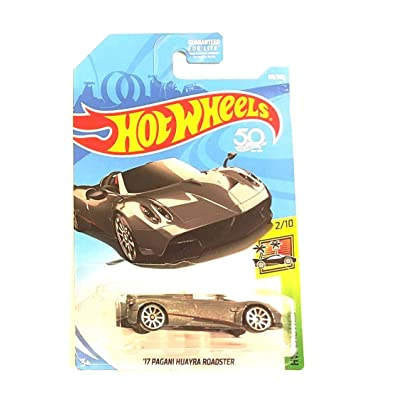 Hot Wheels 2020 50th Anniversary HW Exotics '17 Pagani Huayra Roadster 119/365, Silver: Toys & Games