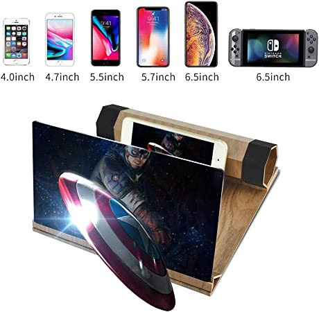 HD Stereoscopic Phone Screen Magnifier Solid Wood Foldable Phone ...