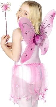 Kids - Disfraz de hada mariposa para niña, talla única (29106 ...
