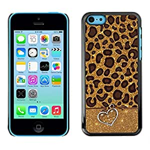 Impact Case Cover with Art Pattern Designs FOR iPhone 5Cs Cheetah Leopard Animal Pattern Heart Fur Betty shop