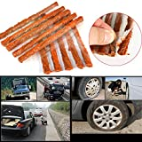 Car Repair Seal Strip, Elevin(TM) 10pcs Car Tyre Tubeless Seal Strip Plug Tire Puncture Repair Recovery Kit