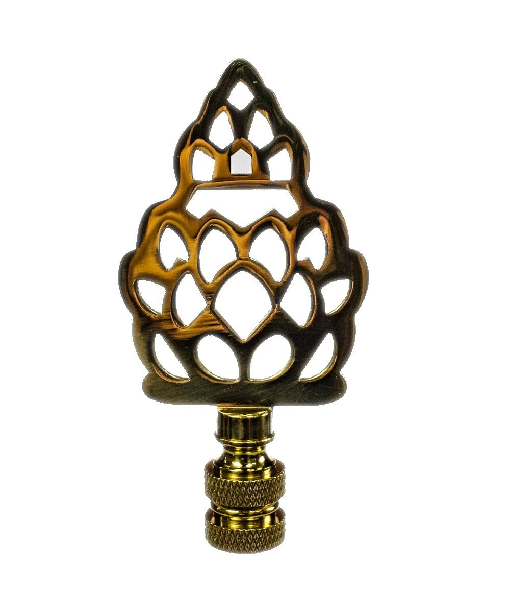 Polished Brass Pineapple Finial 3'' h