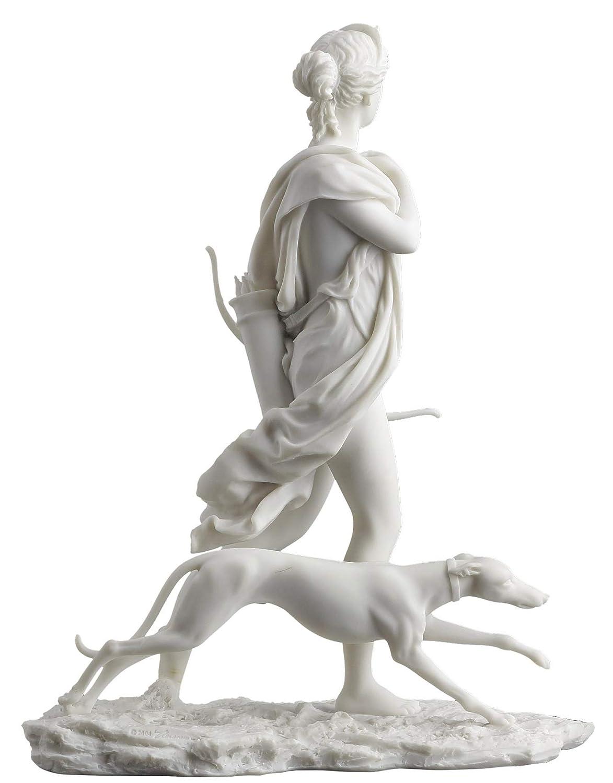 Diana the Huntress Statue - Goddess of the Hunt Artemis White Finish