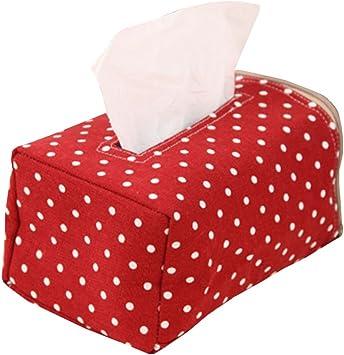 Haodou Tissue-Box Tissue Box Einfarbig Kunststoff Tissue Boxen Platz Kosmetikt/ücherbox Kosmetikt/ücher-Box Papiertaschent/ücher-Boxen f/ür Home Office Auto 18cm*11cm*10cm