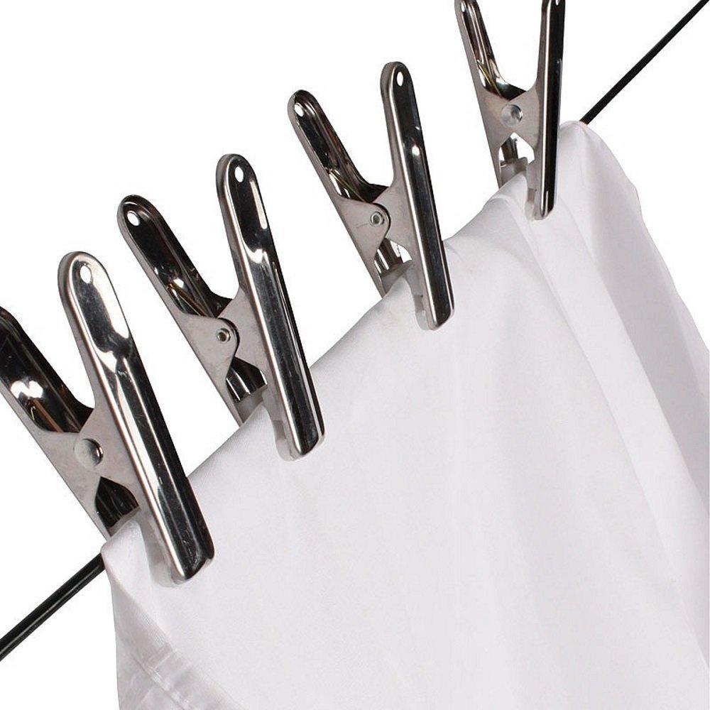 Ensemble de 20 chevilles de blanchisserie en acier inoxydable par BuyElegant avec Soft Grip // tampon en plastique pour conserver des tissus d/élicats robuste pour la ligne de lavage lourd 8 cm de long super fort incassable antirouille