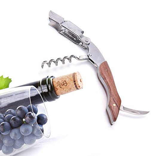 23 opinioni per Ducomi® Sommelier- Cavatappi Apribottiglie per Vino in Acciaio (Garanzia a