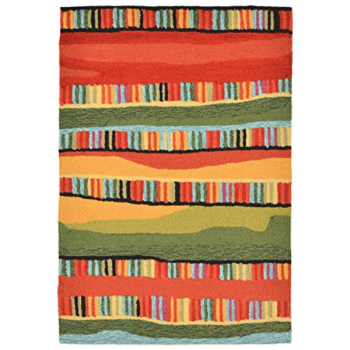 "Liora Manne RV123A95024 Warm Torello Organic Stripes Rug, Indoor/Outdoor, 24"" x 36"""