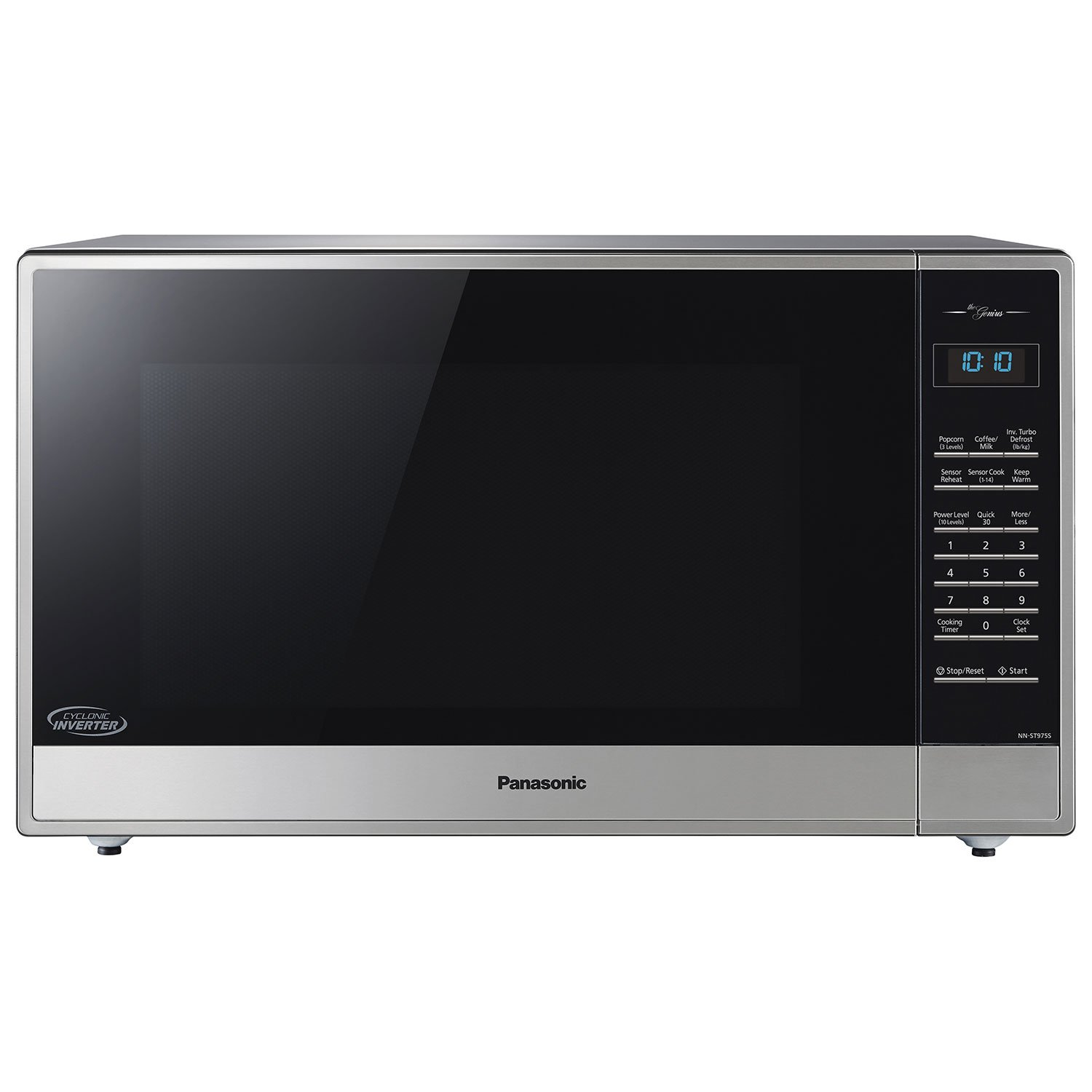Panasonic NN-ST975S 2.2 Cu. Ft. Built-In/Countertop Cyclonic Wave Microwave Oven w/Inverter Technology - Stainless Steel (Renewed)