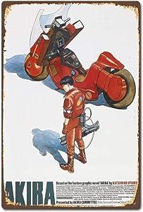 Wonderful Life A Akira Japanese Anime Manga Film Movie Vintage Retro - Retro Metal Tin Sign Poster Bar Cafe Bedroom Home Decor 12 x 8 inches