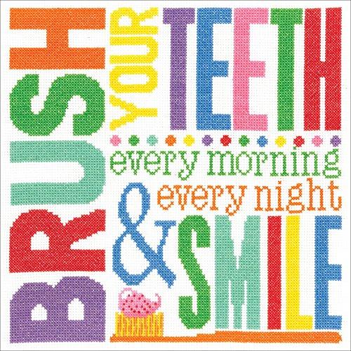 Janlynn Cross Stitch Kit Brush Your Teeth -  Spectrum Crafts Janlynn, JLN182.406