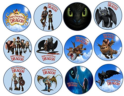 12 How to train your Dragon Image Sheets Cupcake and Cookie Toppers (Wafer/Rice Paper)