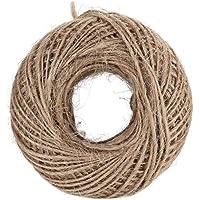 حبل خيط من الخيش الطبيعي ملفوف بطول 100 متر، خيط خيش القنب 2 ملم بتصميم ريفي مناسب لتغليف الهدايا وتزيين حفلات الزفاف