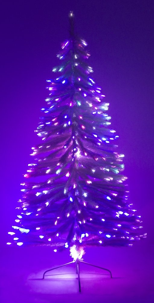 4' Ft Fiber Optic White Artificial Holiday Christmas Tree with Stand