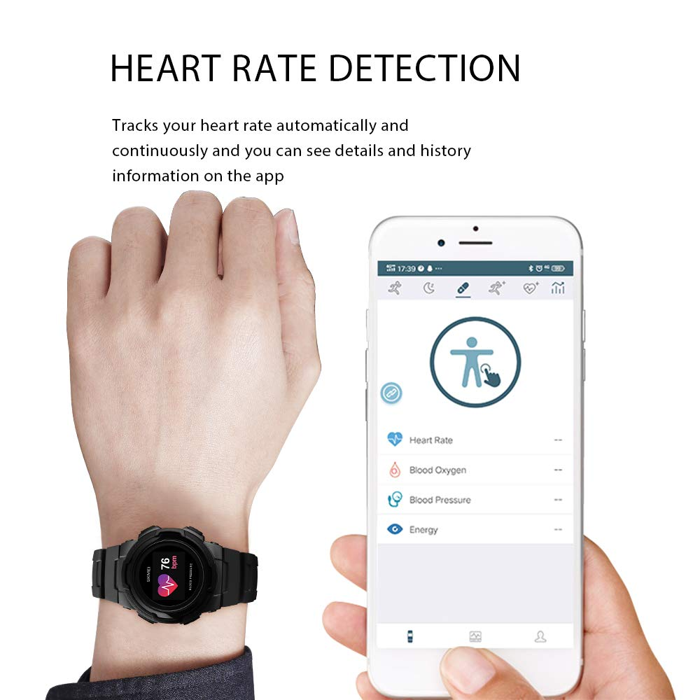 Smart Watch for Men Compatible with Android iPhone Samsung, Heart Rate Blood Pressure Oxygen Sleep Monitor Pedometer GPS, Waterproof Sport Fitness Tracker Smartwatch by LB LIEBIG (Image #5)