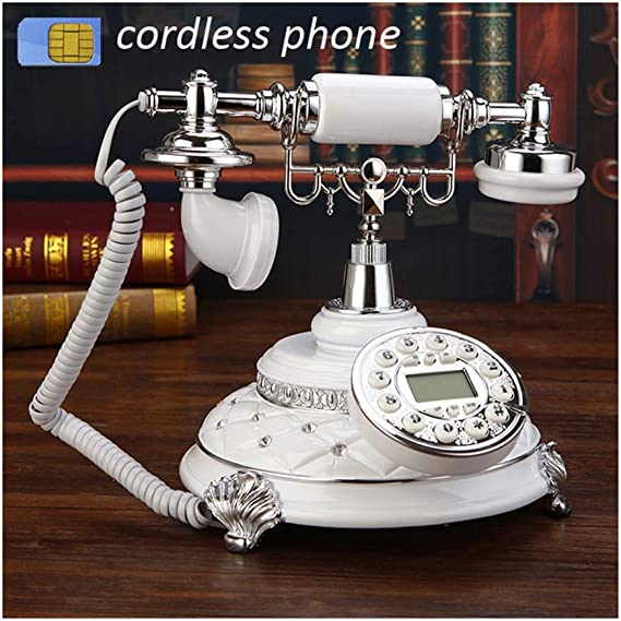 TANGADYL Telefono Fijo Retro Soporte 4g gsm 900 1800Mhz Tarjeta SIM de Teléfono Inalámbrico Fijo Retro Hotelhandphone Oficina en Casa Teléfono Inalámbrico: Amazon.es: Hogar