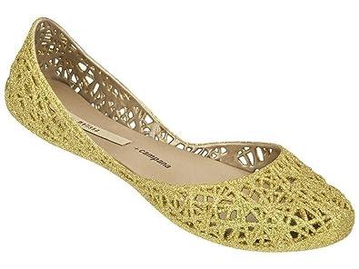 classic fit exquisite design reasonable price Melissa Shoes Melissa Campana Zig Zag Gold Glitter 10