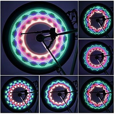 Bicycle Rim Lights,OUTAD Waterproof 30-LED Bicycle Bike Rim Lights for MTB Wheel Tire