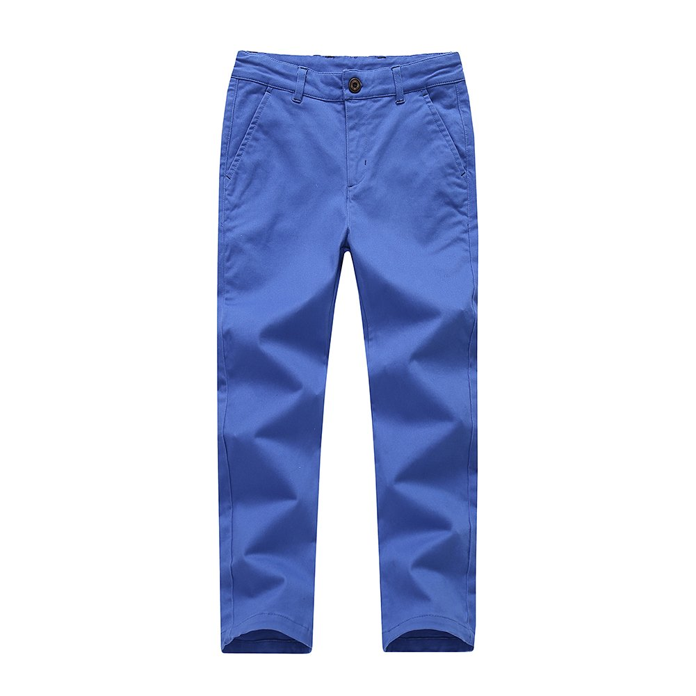 Boys Chino Pants,Adjustable Waist Pants Boys 4-12 Years,6 Colors to Choose,Best Family Dinner KID1234 Boys Pants