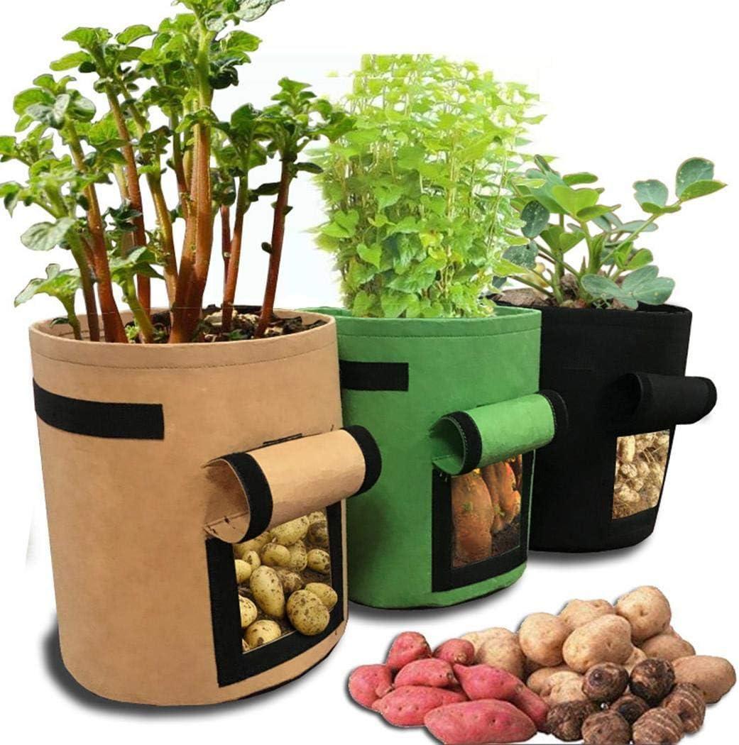 Pongaps R/écipient de culture de l/égumes de sac de plante de jardin pour la culture de pomme de terre Outillage de jardin