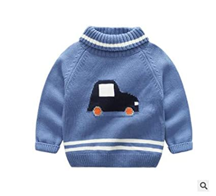 abe799cc7edf Amazon.com  Sweaters Kids Turtleneck for Girls Pullovers Sweater Car ...