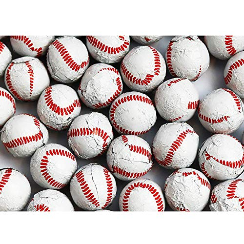 - FirstChoiceCandy Chocolate Baseballs Foil Wrapped 2 Pound Resealable Bag