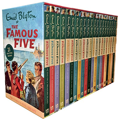 - Enid Blyton Famous Five Series 21 Books Collection Box Gift Set Pack (1 To 21)
