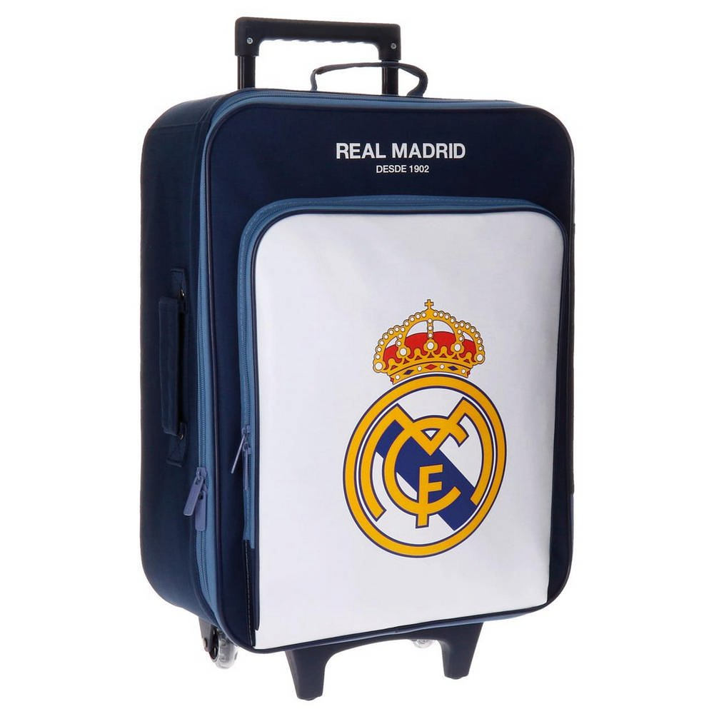 Real Madrid Magnum Kindergepäck, 52 cm, 26 liters, Weiß (Blanco)
