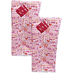 Happy Valentine's Day - Bath and Kitchen Hand Towels, Set of 2 (Be Mine, Always and Forever)