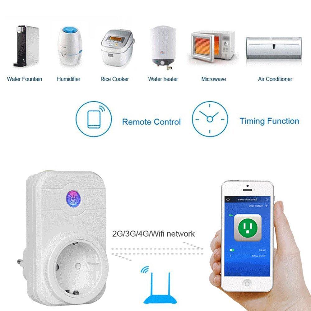 di controllo APP Funziona con  Alexa phifo 3 pezzi Smart presa per timer interruttore Power controllo vocale e smartphone Alexa WiFi intelligente spina Echo e Echo Dot //Goog iOS//Android