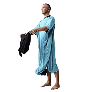 nouvelle arrivee c2b08 79872 Changing Beach Towel Robe Poncho: Surf and Swim Microfiber Dry Robe -  Turquoise
